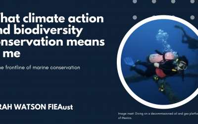What climate action and biodiversity conservation means to me